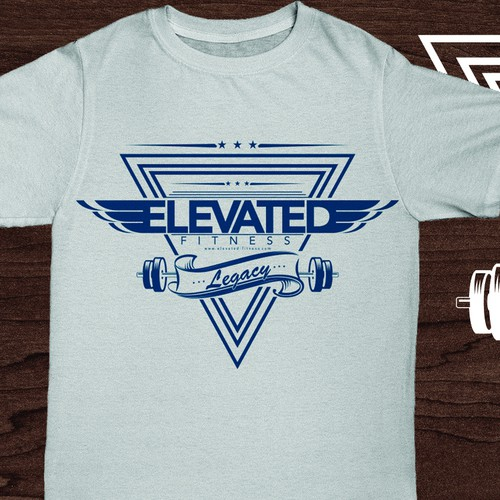 A dynamic, retro-styled t-shirt to reward long-standing fitness clientele