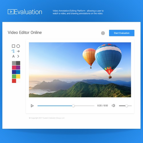 UI for online Video Editor