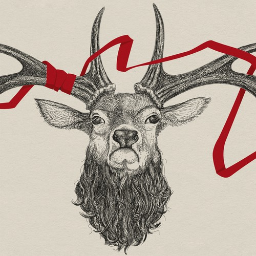 Digital, hand-drawn illustration