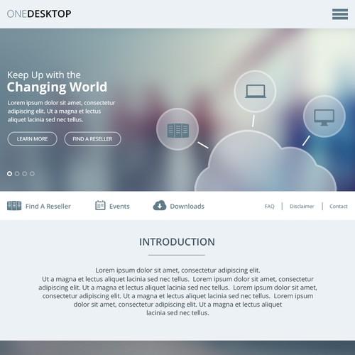 Create a product website for One Desktop - Virtual Desktop solution