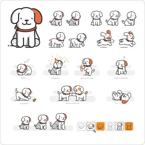 Lovable Dog Mascot for PitPat App.