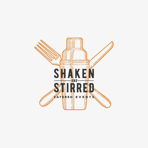 Handcrafted logo for Shaken And Stirred