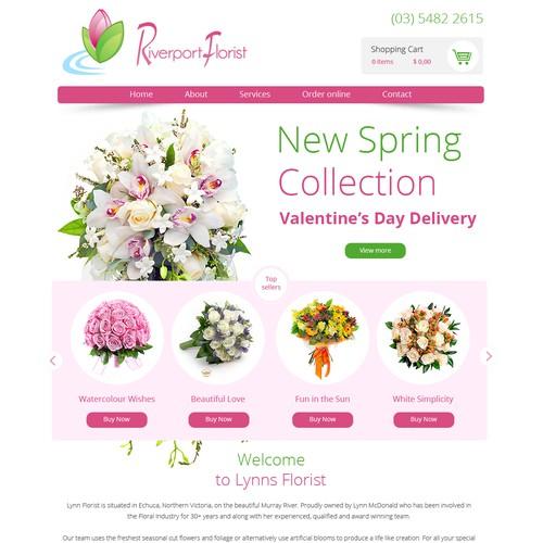 Webdesign for Riverport Florist