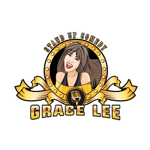 Logo for a Korean female stand up comedian