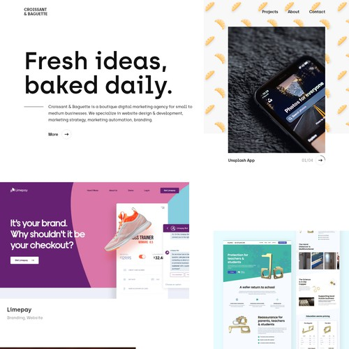 Homepage exploration for a digital marketing agency