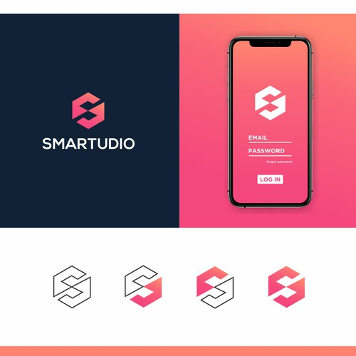 Design a modern, colorful and bold logo for a smart home business