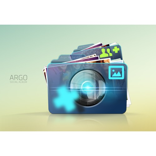 Argo Social Album needs a new icon or button design