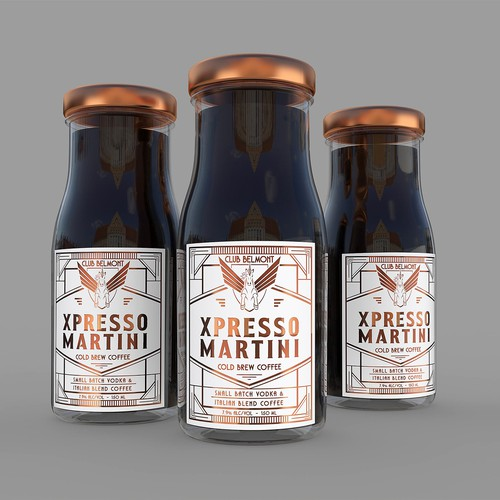 Cold Brew Coffee label