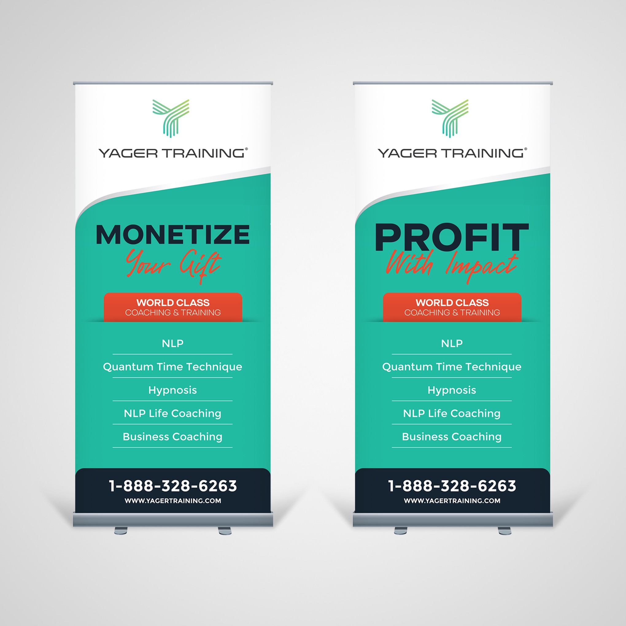 Personal Development Co needs updated banner design to match re-brand