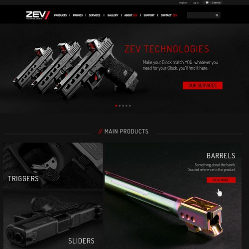 Zev homepage redesign