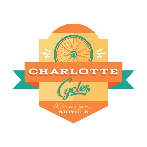 Colorful Cycling Logo