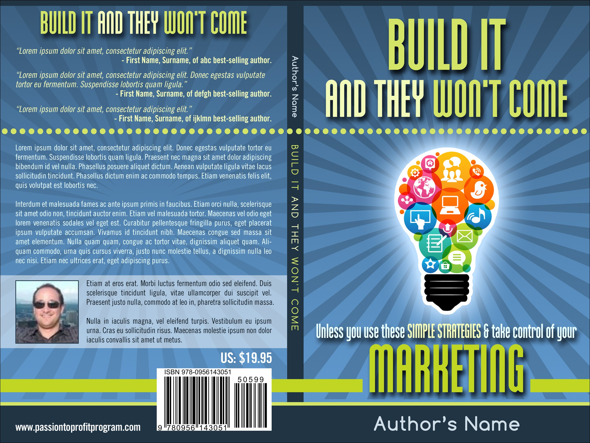 If you design it, they will purchase! Help me make this book a huge success!