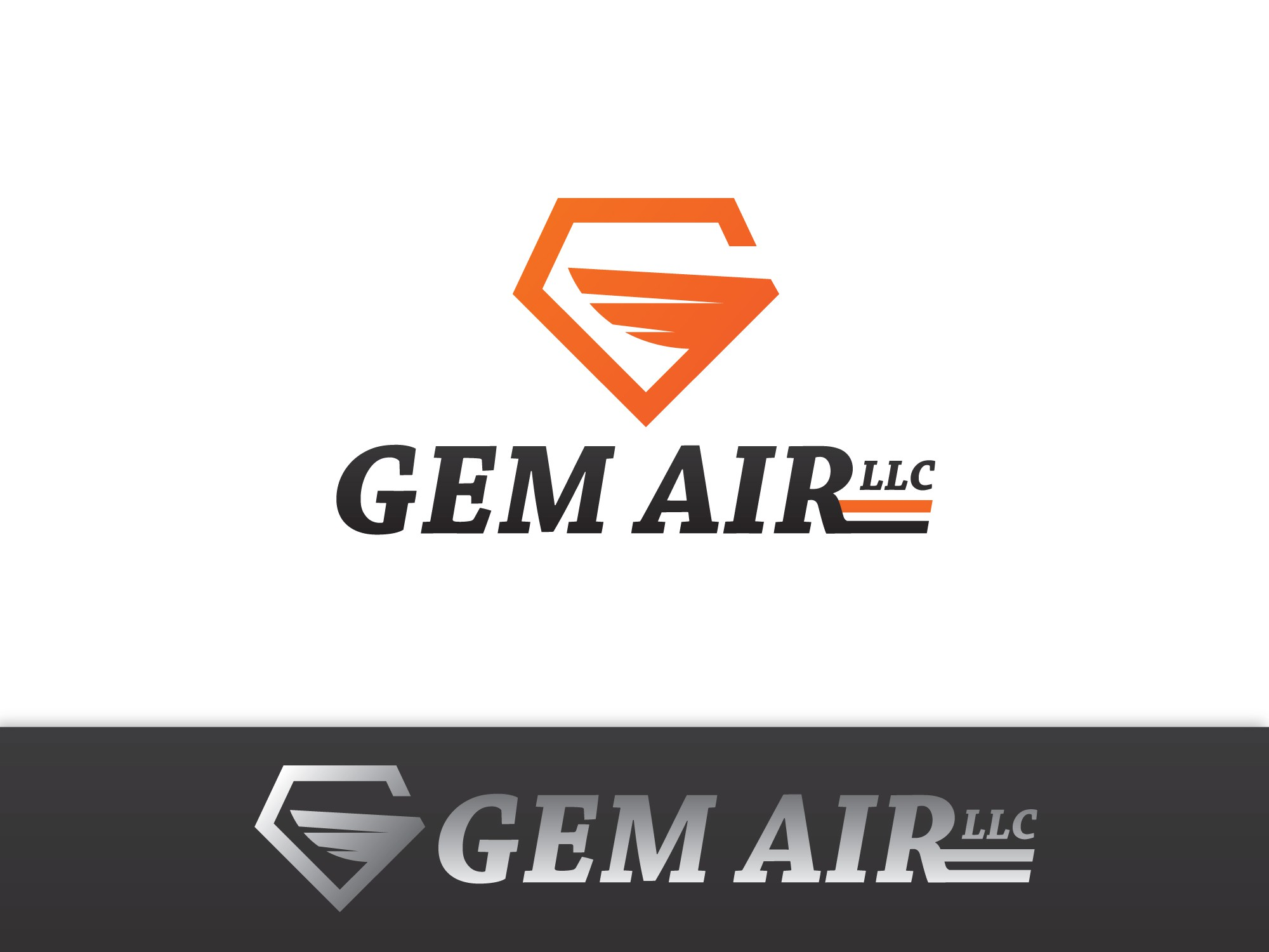 Create a winning logo design for Gem Air, a small airline.