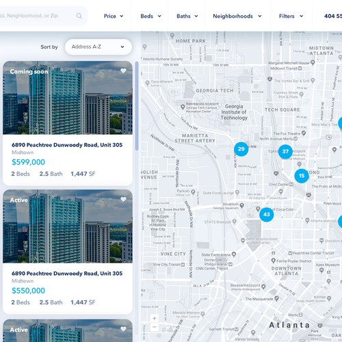 Website design and web-app for a real estate agency