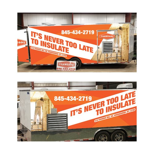 trailer wrap for a spray rig