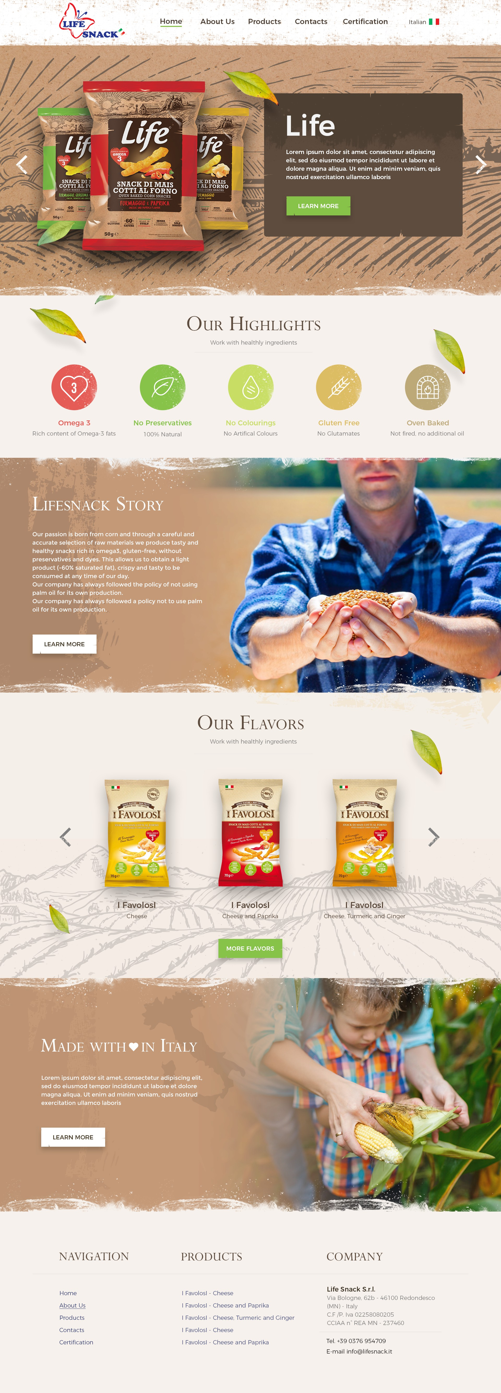 Life Snack - a website for an healthy lifestyle