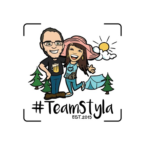 #TeamStyla small family logo design