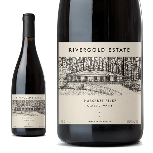 wine label design 2016 Rivergold Estate