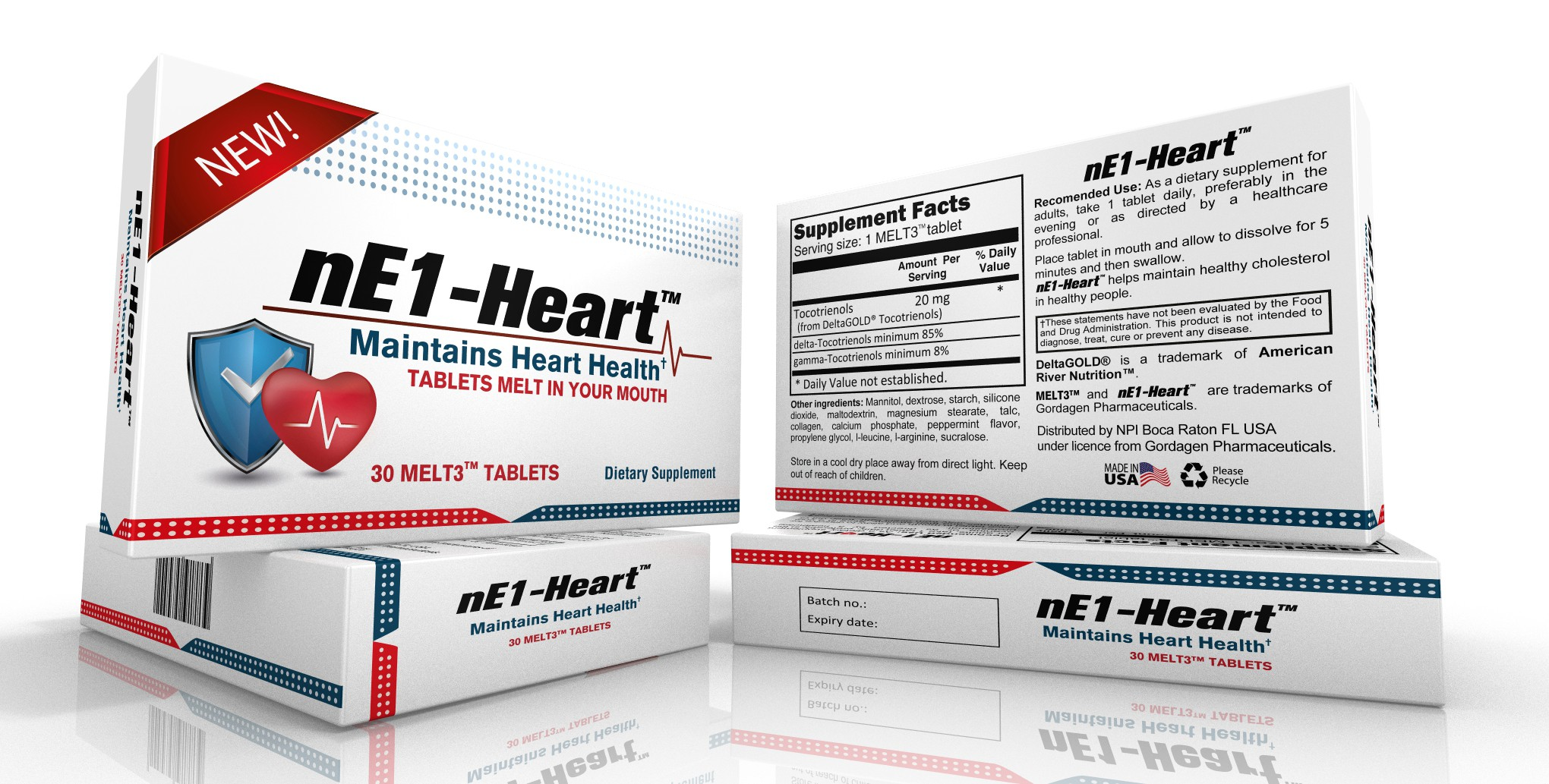 Design an eye catching package for a new heart health supplement and help improve people's health.
