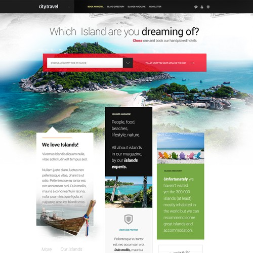 webdesign for Citytravel