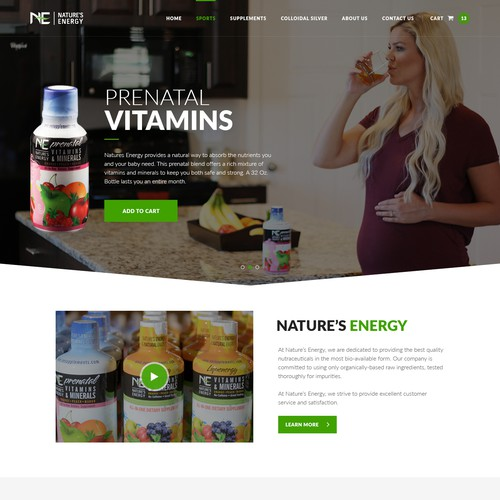 Web Page Design For Prenatal Vitamins