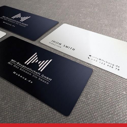 logo and business card für MU-Baugesellschaft GmbH