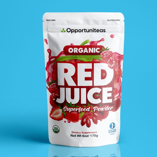Red Juice packaging