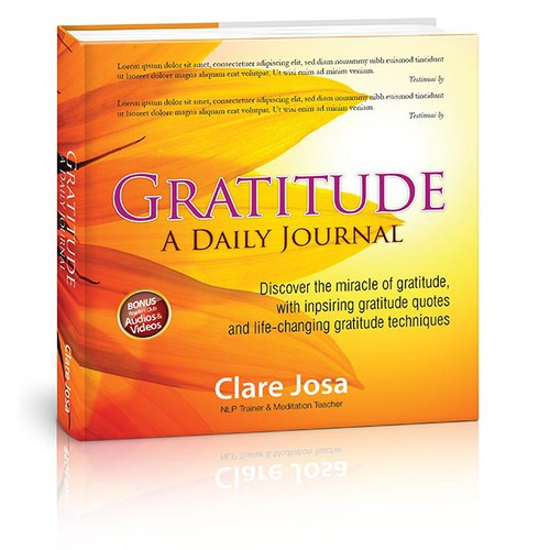Book Cover - inspire people to change their lives with gratitude?