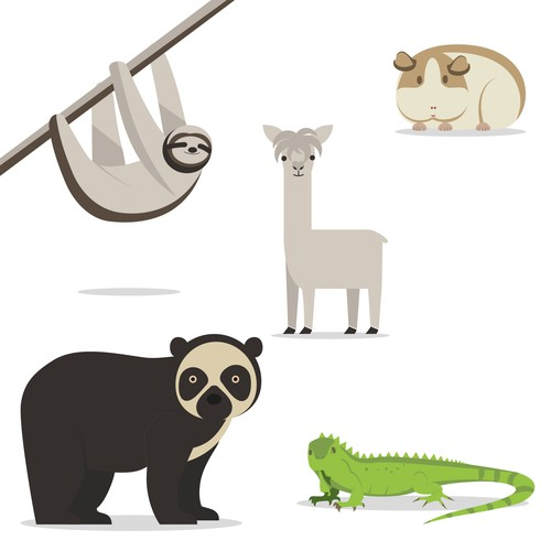Flat animals design