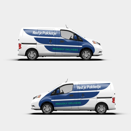 Same-day delivery cars wrap design