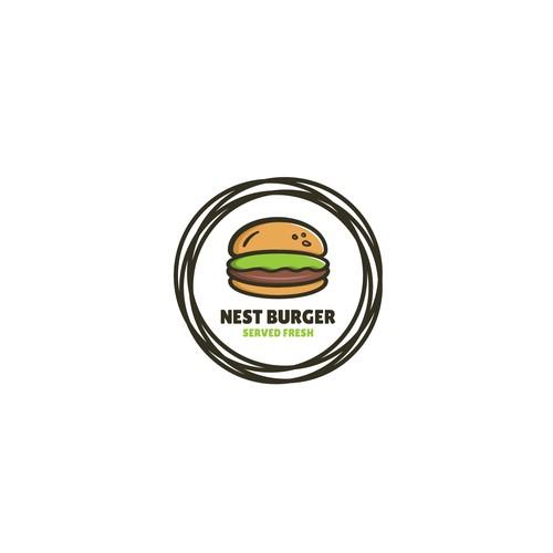 Bold logo for nest burger