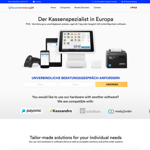 Web Concept for Register System