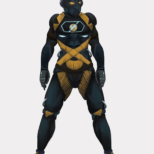 Superhero character designs.
