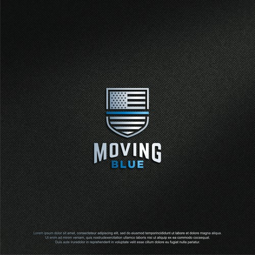 Strong & bold logo concept for MOVING BLUE