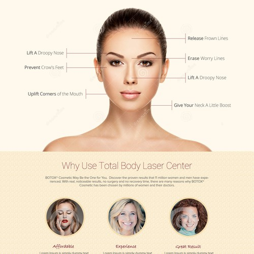 Landing page for Botox Treatment
