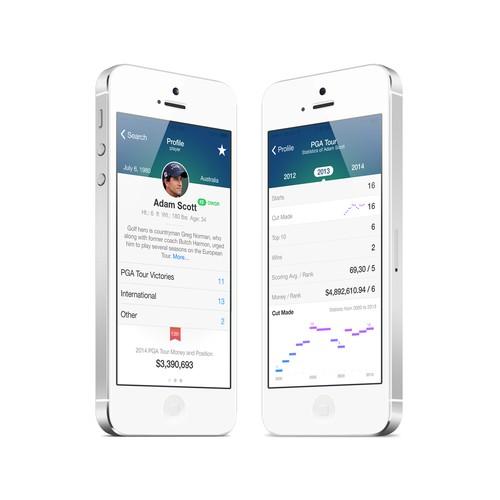 Golf Mobile App Design