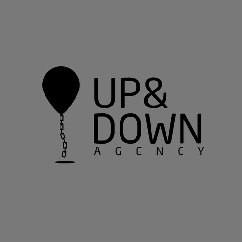 logo for up and down designs