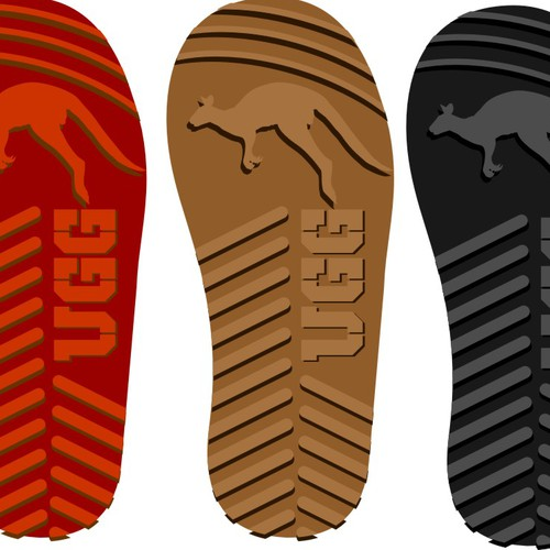 Create a sole pattern for brand shoes