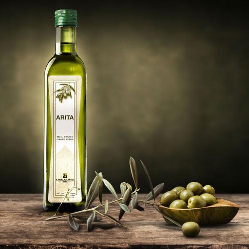 etichetta olio d'oliva