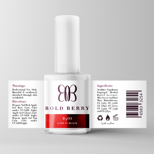 Nail polish label