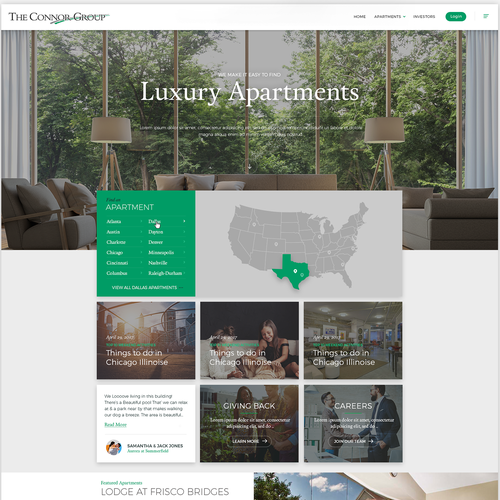 Homepage design for a Luxury Real Estate Develioer