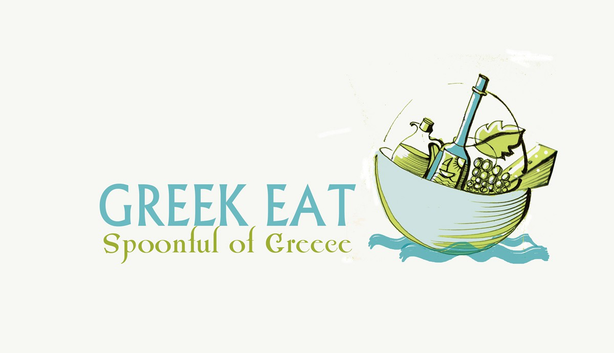 logo for Greek Eat or GReat (a combination of GR for Greek or Greece and Eat)