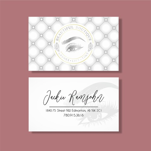 Business card concept for Beautiful Boutique