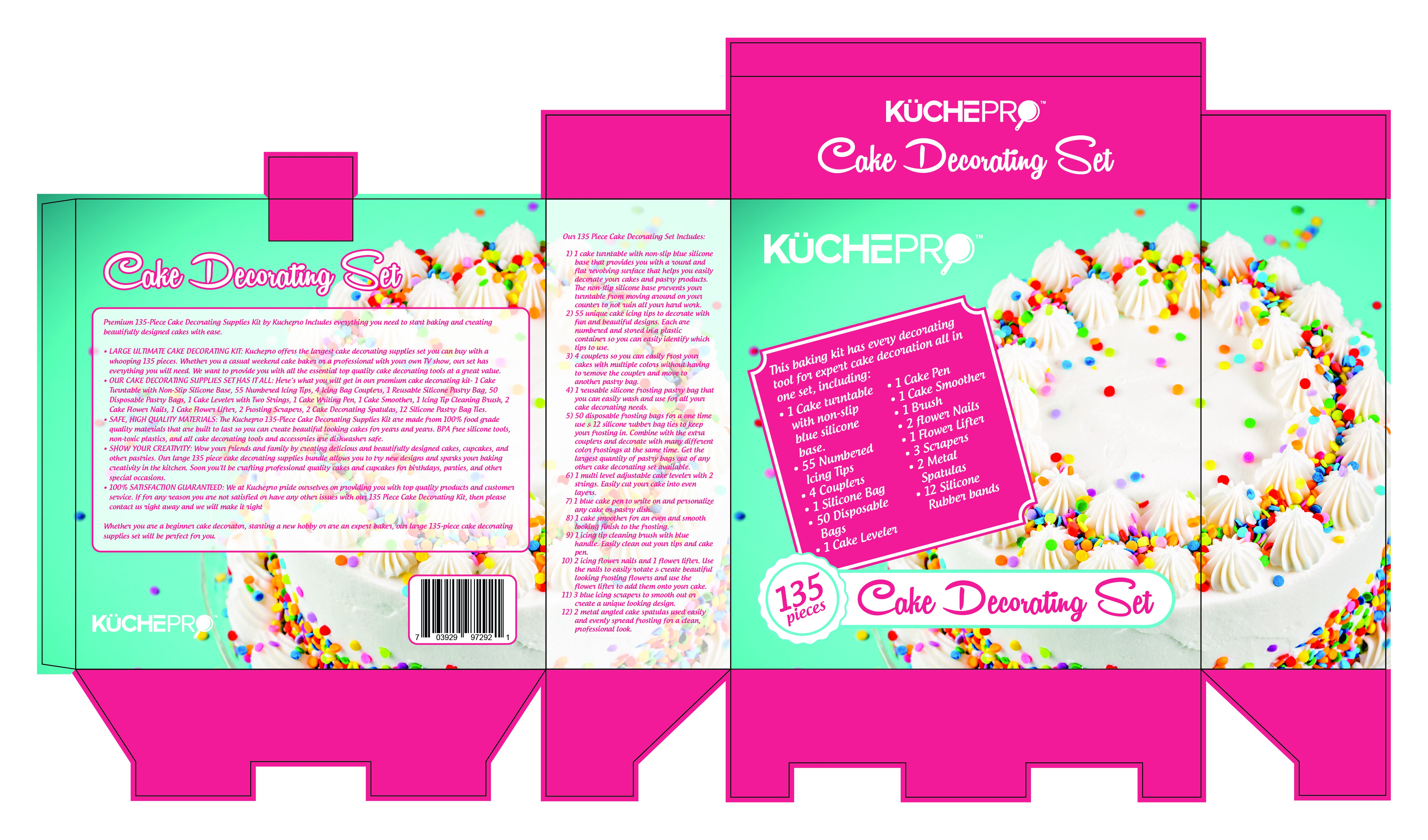 "Create a premium looking ""Cake Decorating Set"" packaging that will draw customers to BUY!!!"
