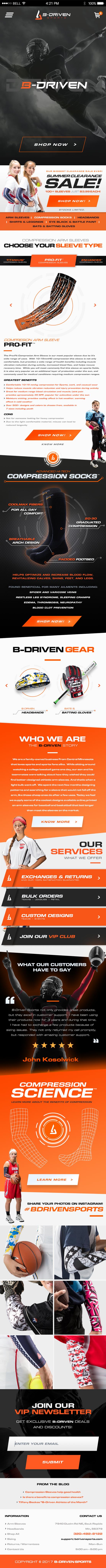 B-Driven Mobile Homepage Design