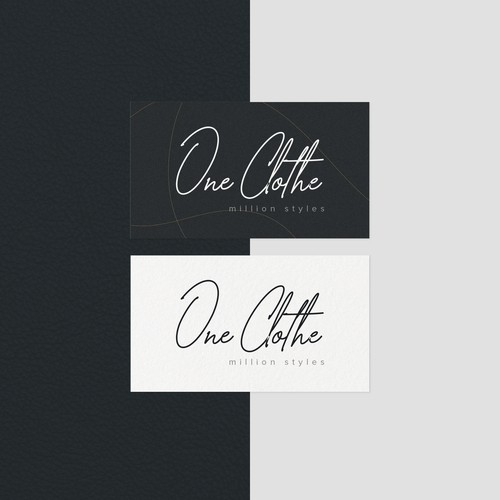 One Clothe - Script Logo Design