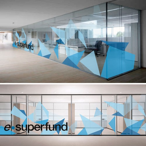 Graphics for glass wall
