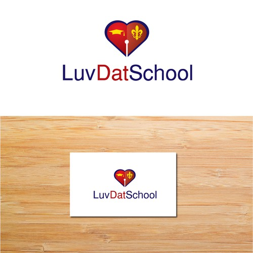 "Create an attractive logo for a give back project called ""Luv Dat School"""