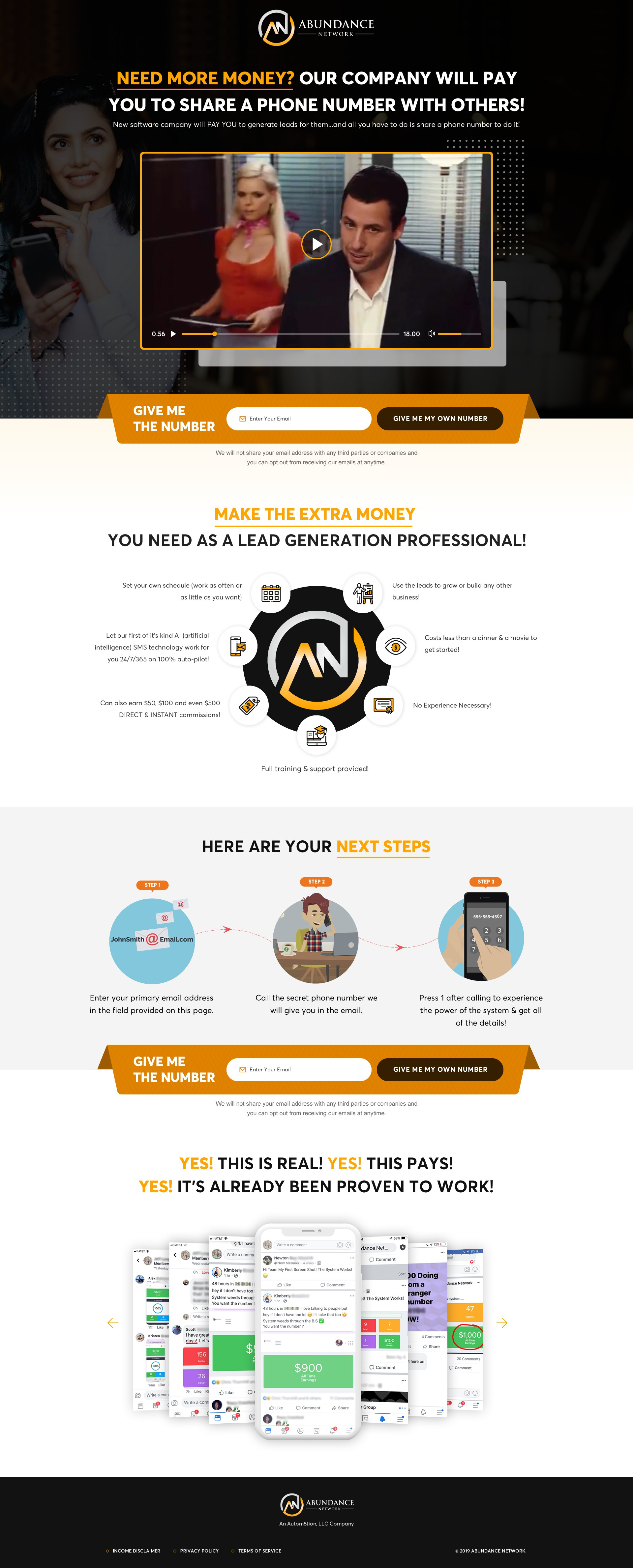 Design a kick ass landing page for new software company