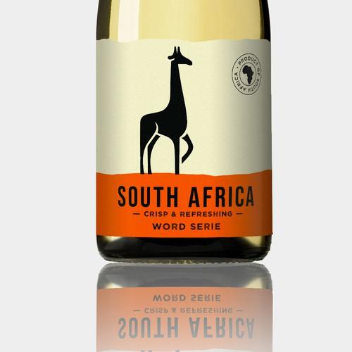 """étiquette de vin """"South Africa"""""""